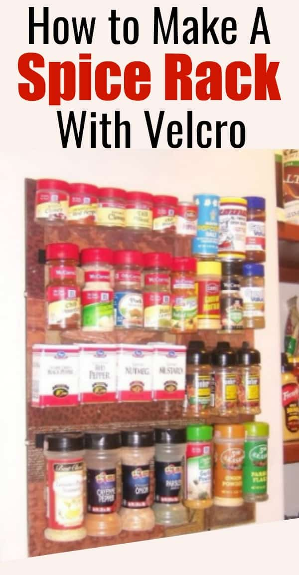 How to Make a DIY Spice Rack Using Velcro