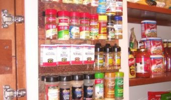 DIY: Frugal Spice Rack Organizer {Photo Frame and Velcro!}