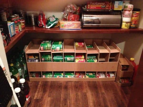Diy can organizer instructions first in first out for Cost to build a pantry