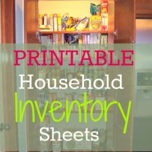 Printable Household Inventory Sheets