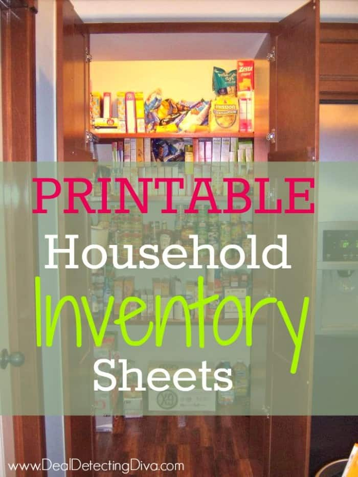 printable household inventory sheets heart hook home