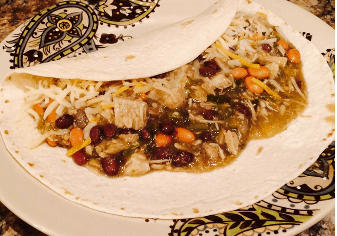 Paul's OMG Slow Cooker Green Burritos