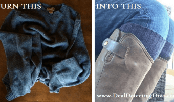 DIY: Turn an Old Sweater into NEW Boot Cuffs!