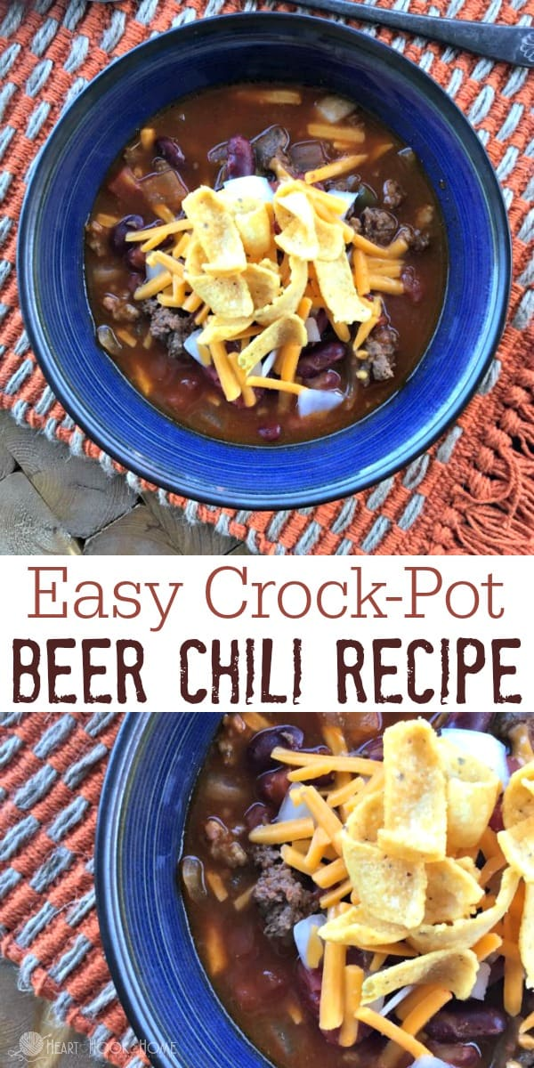 The Best Crock Pot Beer Chili Recipe Ever