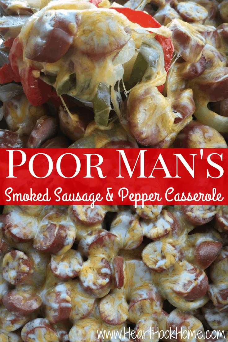 Poor Man's Smoked Sausage & Pepper Casserole