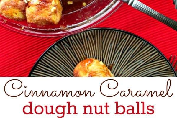 Cinnamon Caramel Nut Dough Balls