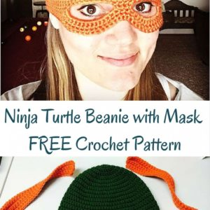 Ninja Turtle Child's Beanie with Mask FREE Crochet Pattern