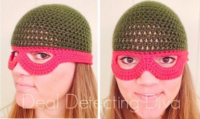 Ninja Turtle Child s Beanie with Mask FREE Crochet Pattern