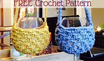 FREE Crochet Pattern: Wine Glass Lanyard