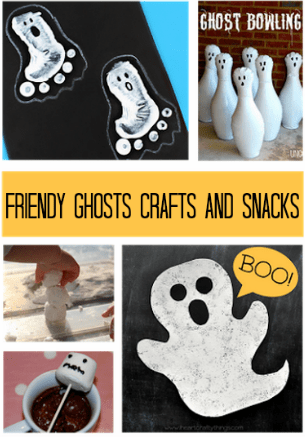Halloween Craft Ideas, Friendly Ghosts: Crafts and Snacks Roundup!