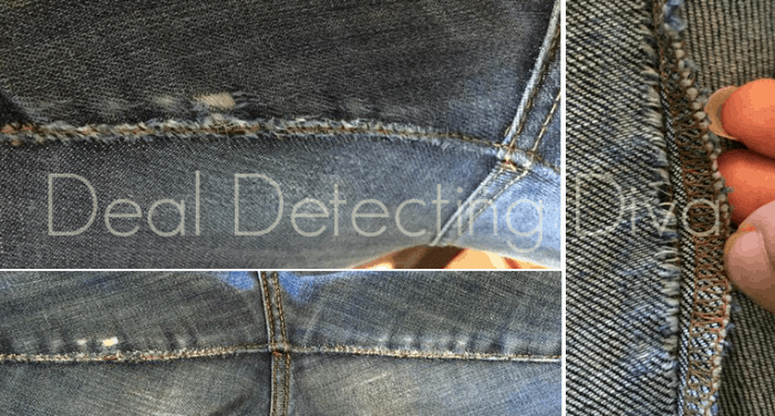 Do Your Thighs Rub?  How to Repair Threadbare Jeans for less than $1.00 per pair!