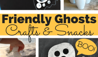 Halloween Craft Ideas, Friendly Ghost Crafts and Snacks!