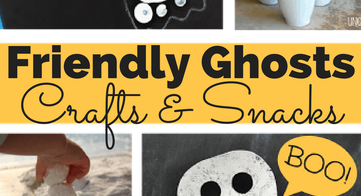 Halloween Craft Ideas, Friendly Ghosts: Crafts and Snacks!