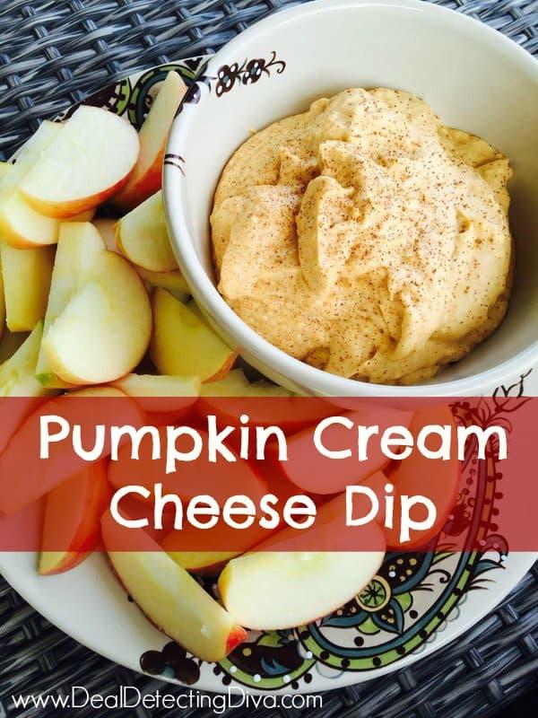 Pumpkin Cream Cheese Dip - Easy and Quick!