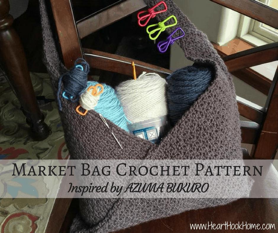 Market Bag Crochet Pattern Inspired by AZUMA BUKURO
