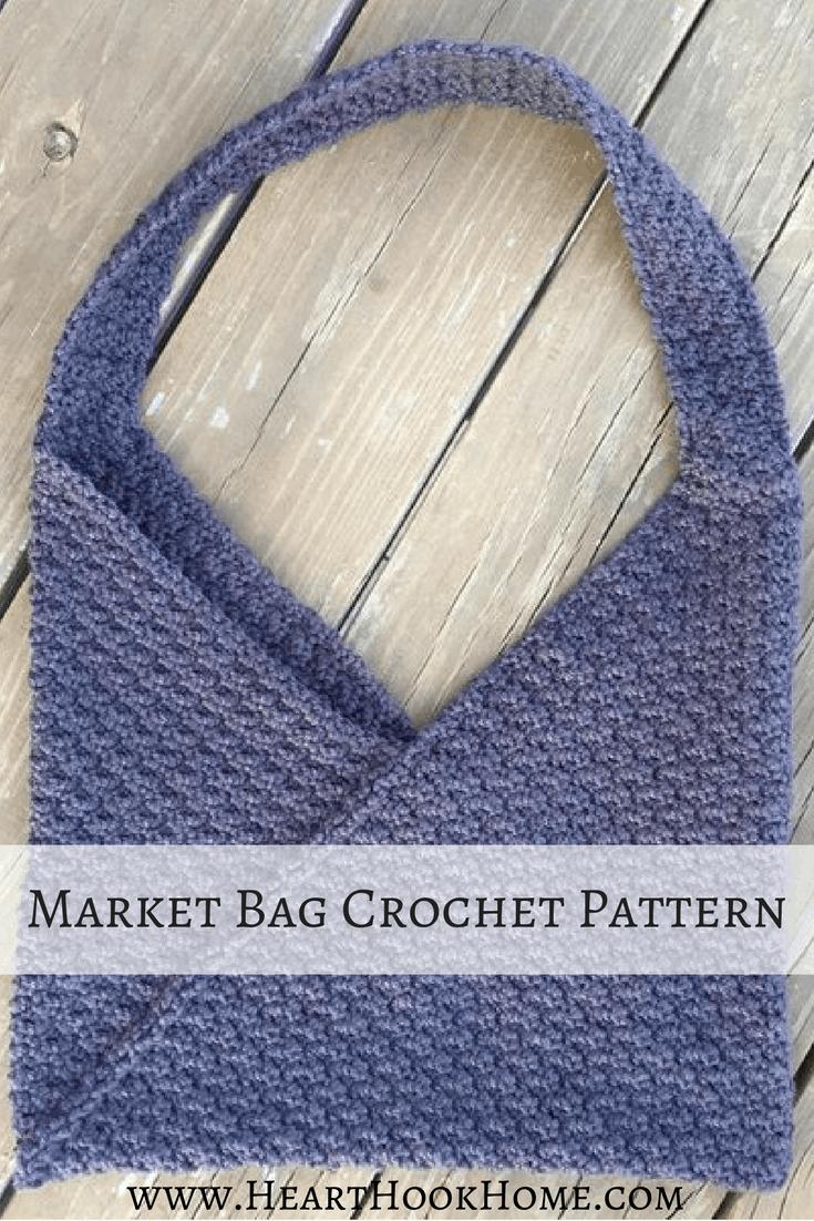 Market Bag Crochet Pattern (Featuring Azuma Bukuro Folding Method)