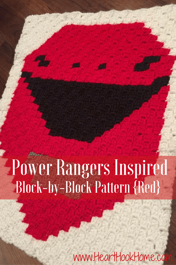 Power Rangers C2C Crochet Graphgan Pattern - Block by Block (Red)