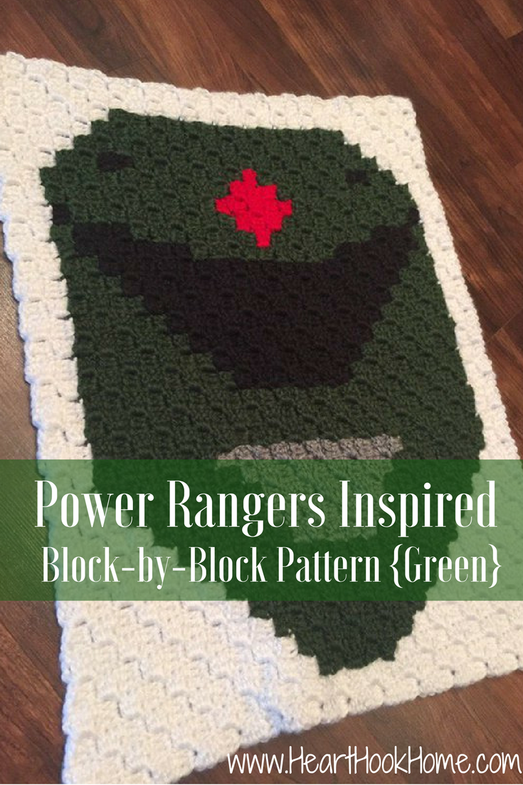 Power Rangers C2C Crochet Graphgan Pattern - Block by Block (Green)