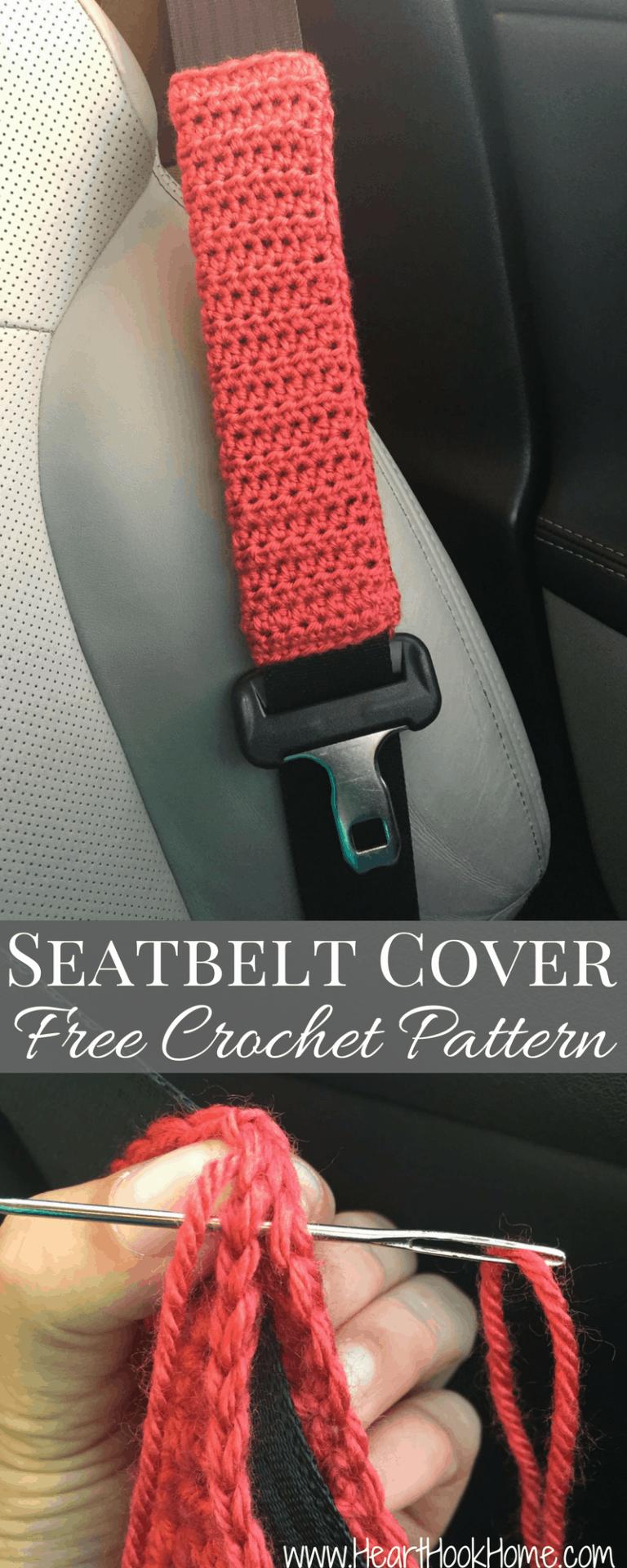 Seatbelt Cover Free Crochet Pattern