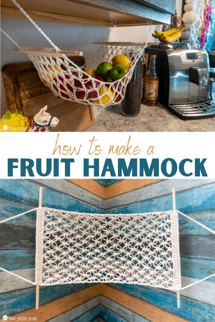 Free crochet fruit hammock pattern
