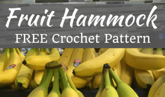 Lonely Banana? How to Make a Fruit Hammock (free crochet pattern)