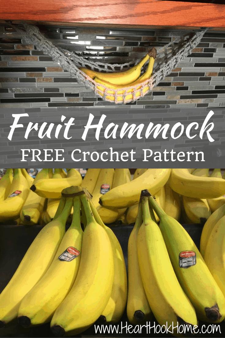 Lonely Banana Crocheted Fruit Hammock Free Pattern