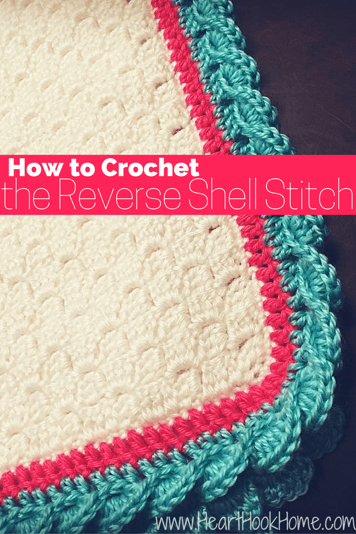 Crochet Baby Blanket Edging Tutorial : How to Crochet the Reverse Shell Stitch (With Photos)