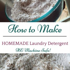 How to Make Homemade Laundry Detergent (Read About HE Safety)