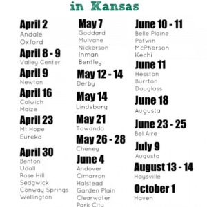Garage Sale Season :: Calendar of City-Wide Garage Sales in Kansas