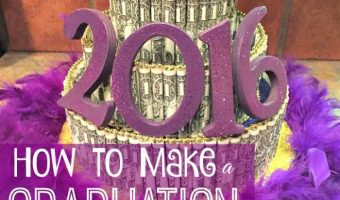 How to Create a Graduation Cake Using Items Mainly from Dollar Tree!