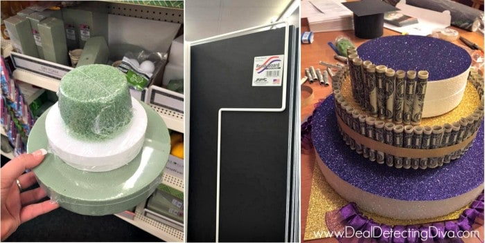 How to Create a Graduation Cake Using Items Mainly from