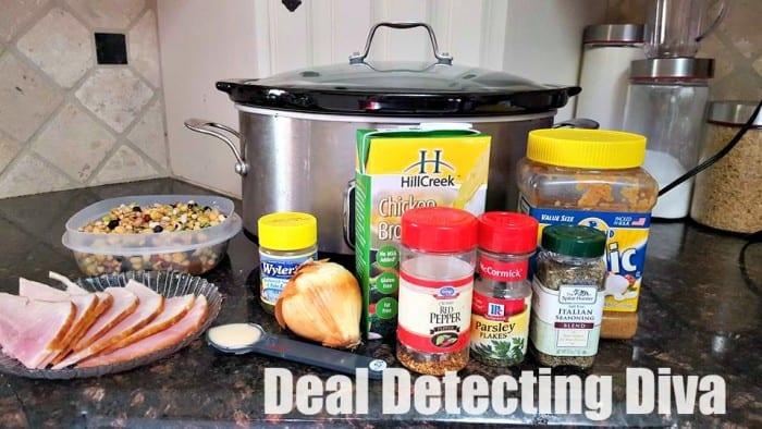 E*A*S*Y Slow Cooker 10 Bean & Ham Recipe AND Homemade Cornbread!