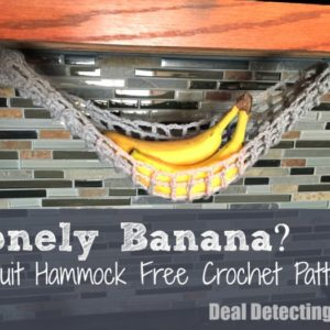Lonely Banana? Make a Fruit Hammock :: Free Crochet Pattern