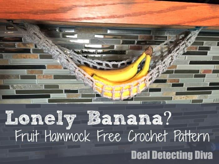 Lonely Banana? Make a Crocheted Fruit Hammock