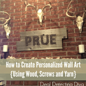 How to Create Personalized Wall Art {Using Only an Old Pallet/Fence Board, Screws and Yarn}
