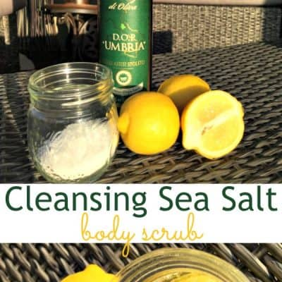 3-Ingredient Cleansing Sea Salt Body Scrub