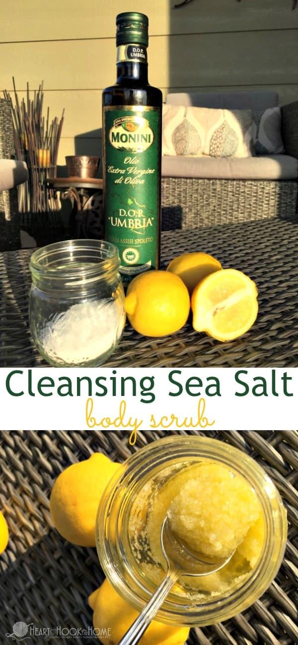 3-Ingredient Sea Salt Body Scrub