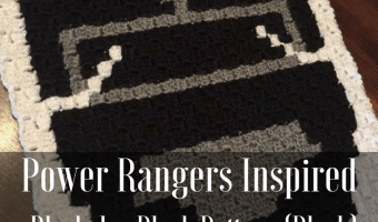 Power Rangers C2C Crochet Graphgan Pattern – Block by Block (Black)