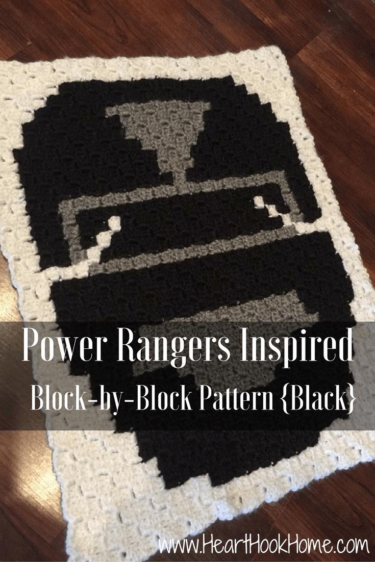 Power Rangers C2C Crochet Graphgan Pattern – Block by Block (Black)