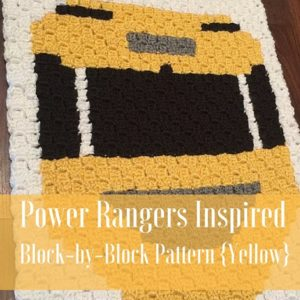Power Rangers C2C Crochet Graphgan Pattern – Block by Block (Yellow)