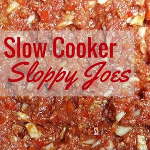 Slow Cooker Sloppy Joes :: From Raw to Ready Crock-Pot Recipe!