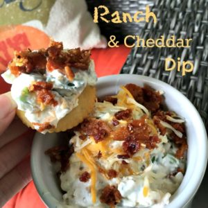 Bacon Ranch Cheddar Cheese Dip :: 15 Minute Prep, Endless Delish