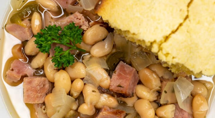 Slow Cooker Ham & Beans Recipe
