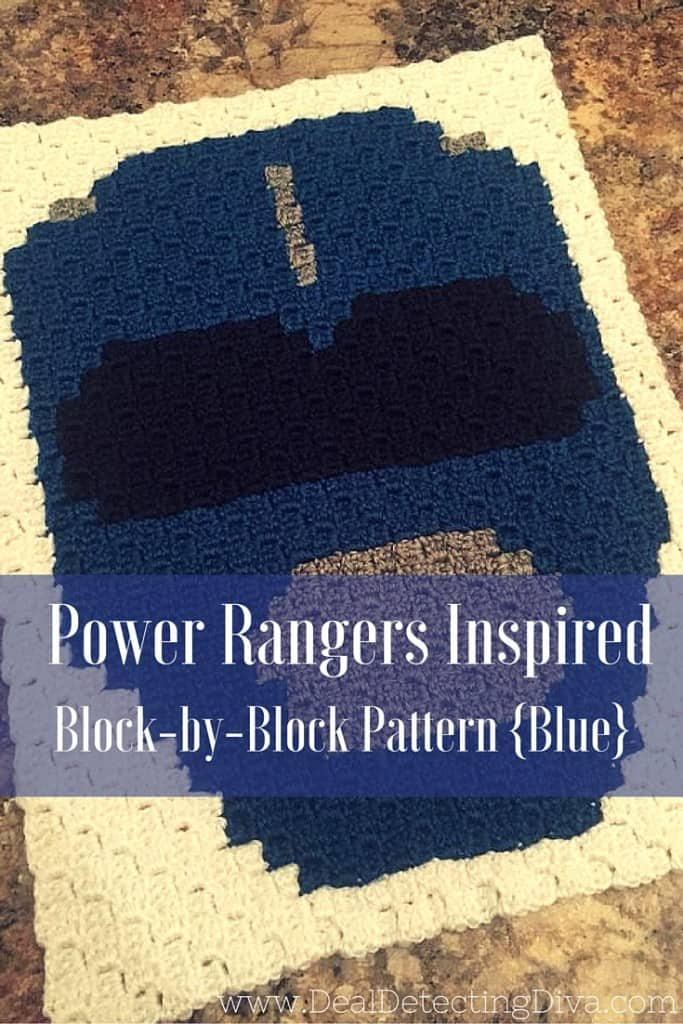 Power Rangers C2C Crochet Graphgan Pattern – Block by Block (Blue)