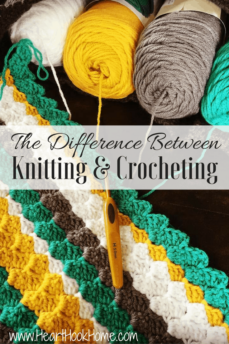 Knitting Or Crocheting Difference : The difference between knitting and crocheting master