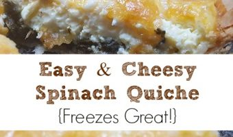 Easy Cheesy Spinach Quiche Recipe – Freezes Well!