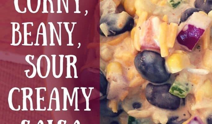 Corny, Beany, Sour Creamy Salsa Dip