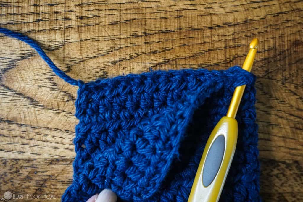Crocheting the end of Hair towel