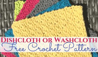 Dishcloth or Washcloth FREE Crochet Pattern