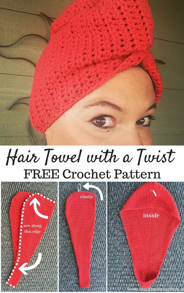 Crochet Hair Towel : Hair Towel with a Twist {FREE Crochet Pattern}